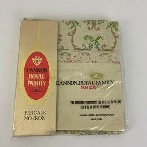 Vtg 1970's Cannon Royal Family Percale Pil…